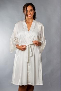 Completo Raso: Vestaglia a Kimono + Canotta Spallino tipo sottoveste in Raso